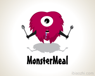 MonsterMeal快餐店logo