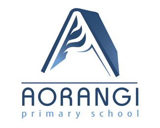 Aorangi primary school_标志设计欣赏