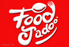 Food Jadoo字体LOGO