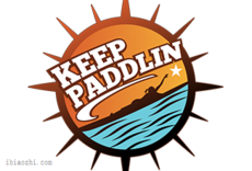 Keep Paddlin�酥�LOGO