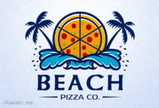BEACH PIZZA标志LOGO