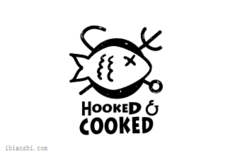 HOOKED COOKED标志LOGO