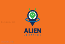 AlienLocation标志LOGO