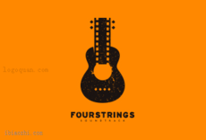 FourStrings音响品牌标志LOGO